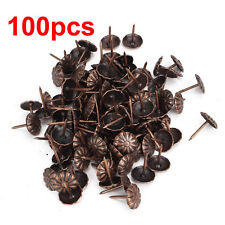 Newest 100pcs Vintage Upholstery Nails Bronze Metal Tags For Furniture 11x16mm