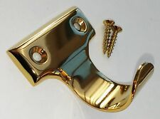 Sliding Sash Window Finger Lift Pull Handle Gold / Brass & Screws Top Quality
