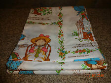 Vintage Morgan Jones American Greetings HOLLY HOBBIE Twin Flat Sheet NEW
