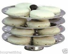 Best indian idli 4 Piece stand/16 Piece idli making cooking tool/stainless steel