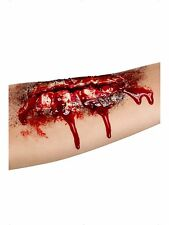 Halloween Gory Fake Open Wound Scar Zombie Make Up Wound With Glue 37173