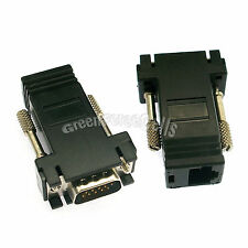 10 x VGA Extender Male to LAN RJ45 CAT5 CAT6 Female Network Cable Adapter Black