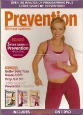 PREVENTION Fitness Systems BETTER BELLY YOGA DANCE IT OFF DROP IT IN 30 DVD SET