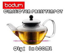 IN BOX BODUM CLASSIC TEA PRESS TEAPOT WITH STAINLESS STEEL FILTER. 600ML