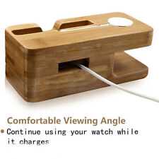 Bamboo Stand Charging Dock Station Bracket Phone Accessories For Iphone/Iwatch
