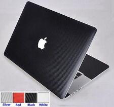 Black Carbon Fiber 3D Skin Cover Guard Protector for MacBook Pro 15 A1398 Retina
