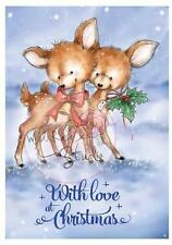 New Wild Rose Studio Clear cling rubber stamp BLUEBELL LOVE CHRISTMAS Winter set