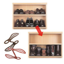 1 pair Household Portable Closet Storage Shoes Rack Organizer Space Saver Holder