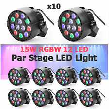 10 x GBGS RGBW Par Up Lighting Slim LED DJ Light DMX Color Mixing 8CH Can Lamp