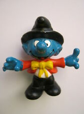 SMURF FIGURINE (Black & Red Outfit) - Schleich 1981 PEYO Hong Kong