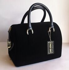 FURLA Rubber Jelly MINI 'CANDY BAG FLOCK' Black VELVET COVER Satchel Handbag NWT