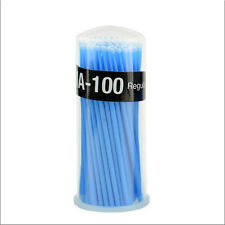 100Pcs Blue Disposable Mascara Swab Applicator Micro Brush Eyelashes Tools