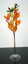 Oak Twig Crystal Glass Ornament Sunset Colors Garden House Table Decoration Hot