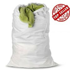 1 NEW LARGE HEAVY DUTY WHITE COMMERCIAL LAUNDRY BAG HEAVY CANVAS WASHABLE 30X40