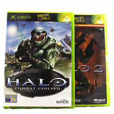 Halo 1 + 2 for Original XBox RPG Shooter 16+ 360 Compatible *1ST CLASS POST*