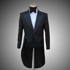 Mens Wedding Tuxedo SUIT&PANTS Jackets Formal Tail Coats Trouse Evening Party
