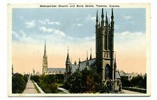 Metropolitan Church and Bond Street TORONTO Canada Vintage Postcard