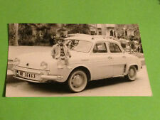 VIINTAGE PHOTO - RENAULT DAUPHINE ONDINE GORDINI CHILD - FOTO ANTIGUA COCHE