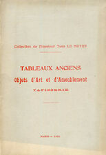 Catalogue Vente - COLLECTION de Yves LE MOYNE - 1912