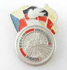 #e1927 Friedensfahrt Abzeichen 1952 DDR silberfarben Berlin Warschau Prag