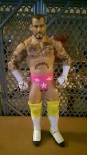 WWE Mattel Wrestling action figure CM Punk! In pink tights with white stars