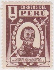 (PU143) 1938 Peru 1S purple (B) ow699