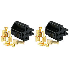 2X RELAY SOCKET WITH CONNECTOR (CRIMP TYPE CONNECTOR) INTERLOCKING FREE SHIPPING