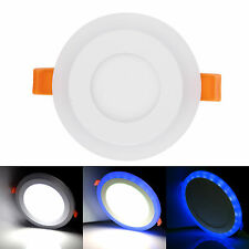 Ultra Slim Dual Color LED Panel Recessed Ceiling Down Light Spotlights Round ESD
