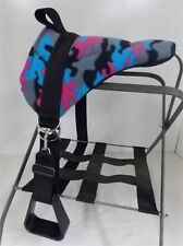 MINIATURE HORSE / SM PONY BAREBACK PAD SADDLE  WITH STIRRUPS -BRIGHT CAMO