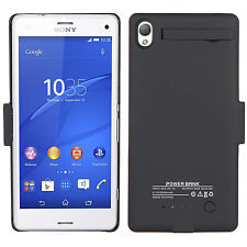 3200mAh Extended Battery Backup Power Bank Charging Case Skin For SONY Xperia Z3