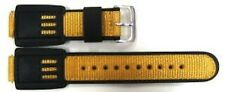 16mm Black Yellow Nylon Leather Watch Band Strap Fits Casio Gshock DW5600E