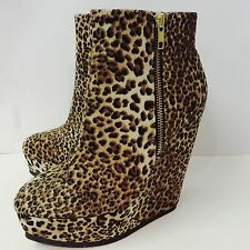 "Timeless Leopard Print 5"" Platform Wedges, Brand New with box. Size 7 UK, 40 EU."