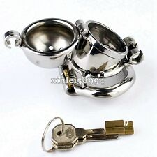 Double Lock Design Male Chastity Belt Device Stainless Steel Bird Cage Removable