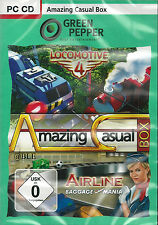 PC CD + AMAZING CASUAL BOX + Locomotive 4 + Airline Baggage Mania + Win 8