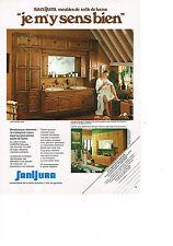 PUBLICITE  1980   SANIJURA    meubles sanistaires  ensemble CHAMBORD