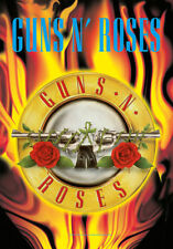 Guns n Roses Fahne Flagge Flames Posterflagge Textilposter poster flag