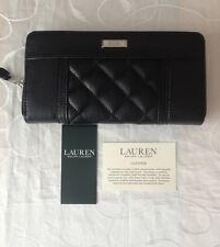 Ralph Lauren Women's Black Leather Zipped Wallet /Purse