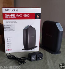 Belkin SHARE MAX N300 Wireless N Routers + 2 USB + 4 GIGABIT LAN Port