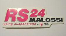 VECCHIO ADESIVO MOTO originale / Old Sticker Vintage RS24 MALOSSI MOTO (cm 14x4)
