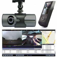 "HD Dual Lens Vehicle Car Camera Video DVR Dash Cam G-Sensor 2.7"" LCD Screen BH"