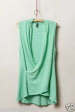 Anthropologie Pivot Draped Tank  Mint Green Cotton Top By Left Of Center XSP