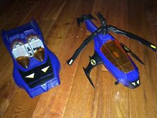 Vintage 1986 Kenner SuperPowers Batman Batcopter Helicopter + 1984 Batmobile DC
