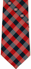 Montreal Canadiens Checks Mens Necktie NHL Hockey Canada Logo Fan Gift Tie New N