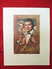 JAMES BOND CASINO ROYALE AUTOGRAPHED BARRY NELSON LTD ED LITHOGRAPH 2001