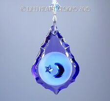 Fine Crystal Purple Moon and Star m/w Swarovski SunCatcher Lilli Heart Designs