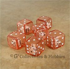 NEW Set of 6 RED Double Six Sided Dice Game RPG Math