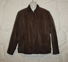 Brown Leather BOYS OF EUROPE Zip Hip Length Biker Casual Blazer Jacket Size XL