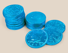 Milk Chocolate Coins 1-lbs - Blue - kosher