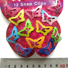12pcs Butterfly Hair Clips Snaps For Girls Baby Kids Accessories 1 Set