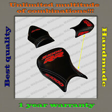 CUSTOM Design Seat Cover BMW S1000RR 12-14 black+red+white-trimming 001
